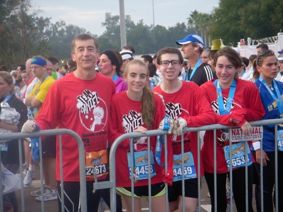 Team Daniel running for schizophrenia research